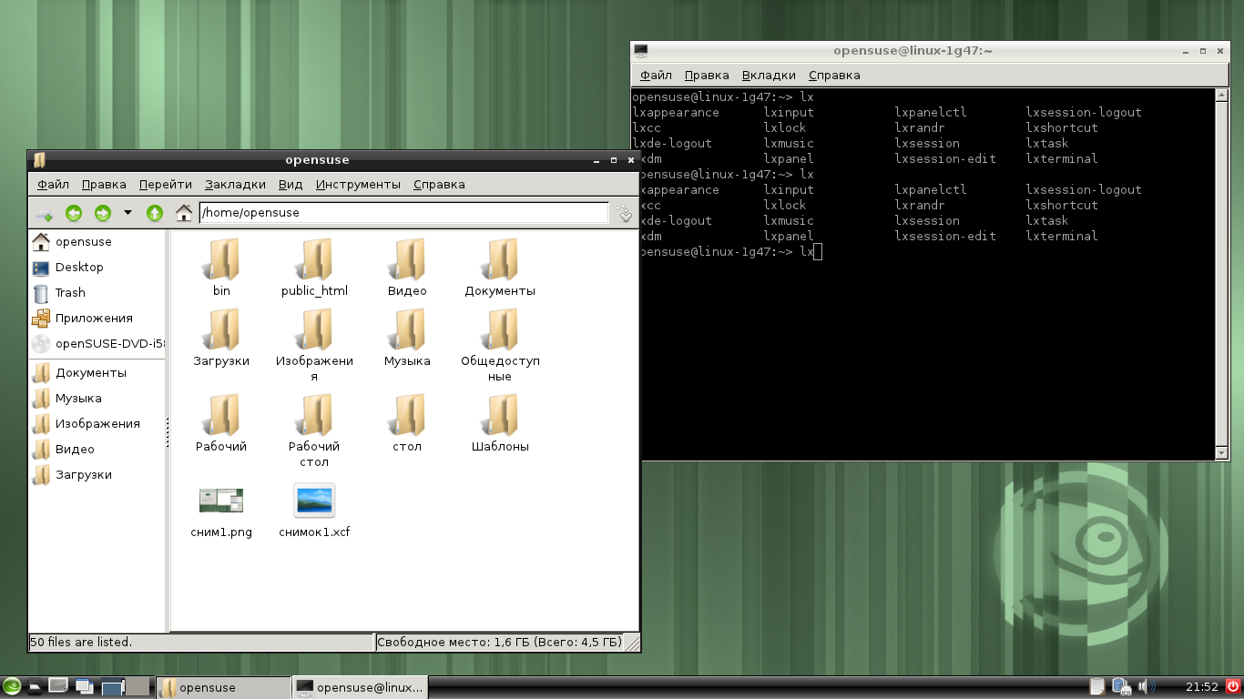 OpenSUSE114lxde terminate filemanager.png